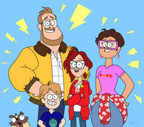 The Mitchells (Gravity Falls Style)