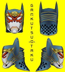 Tiger and Bunny - Origami Cyclone Mask Pepakura by GANKUTSU-O-TAKU