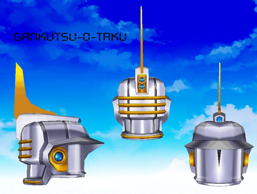 Tiger and Bunny - Sky High Helmet Pepakura by GANKUTSU-O-TAKU