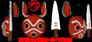 Princess Mononoke Mask/Knife...