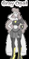 Beryl fusion #9 - Gray opal
