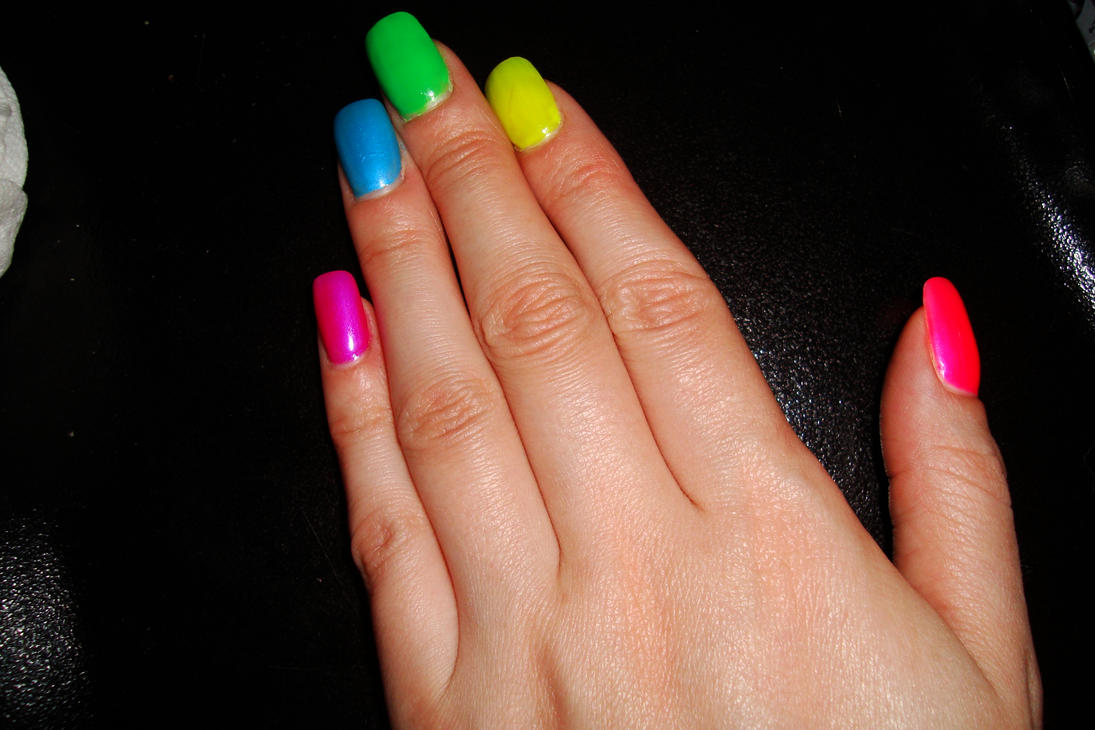 To acquire Rainbow Neon nails pictures trends