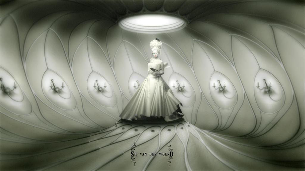 Worms artwork - white room by silvanderwoerd