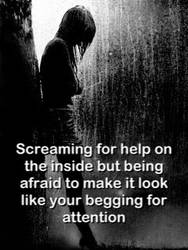 Screaming for help by DirectionForLyfe