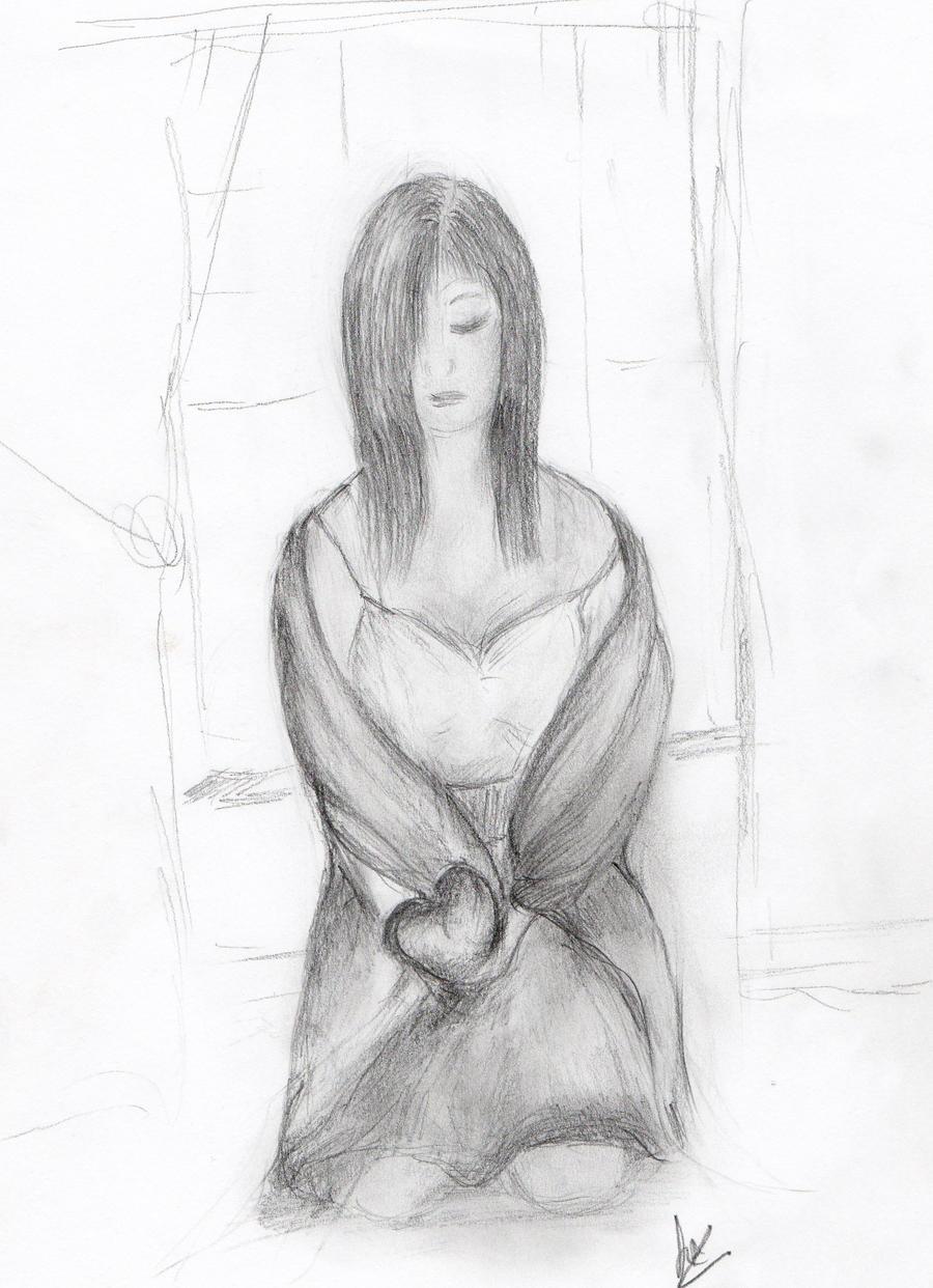 drawings in pencil of broken hearts wwwimgkidcom the