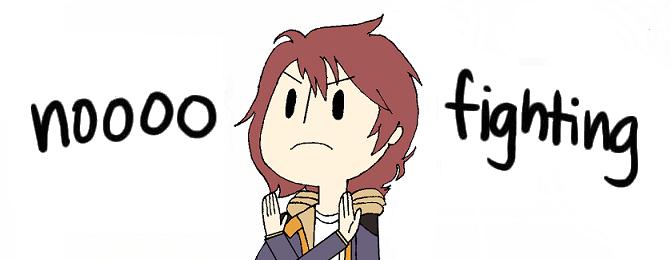 Gundam UC: No fighting! by PeachyKeenCassie