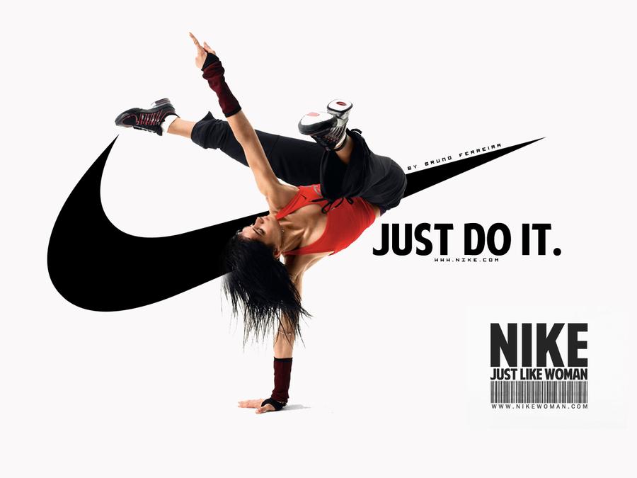 Nike Woman Wallpaper {Just Do It.