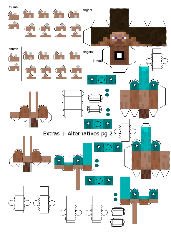 Advanced steve papercraft extras 2 by frownieman on deviantart advanced steve papercraft extras 2 by frownieman maxwellsz