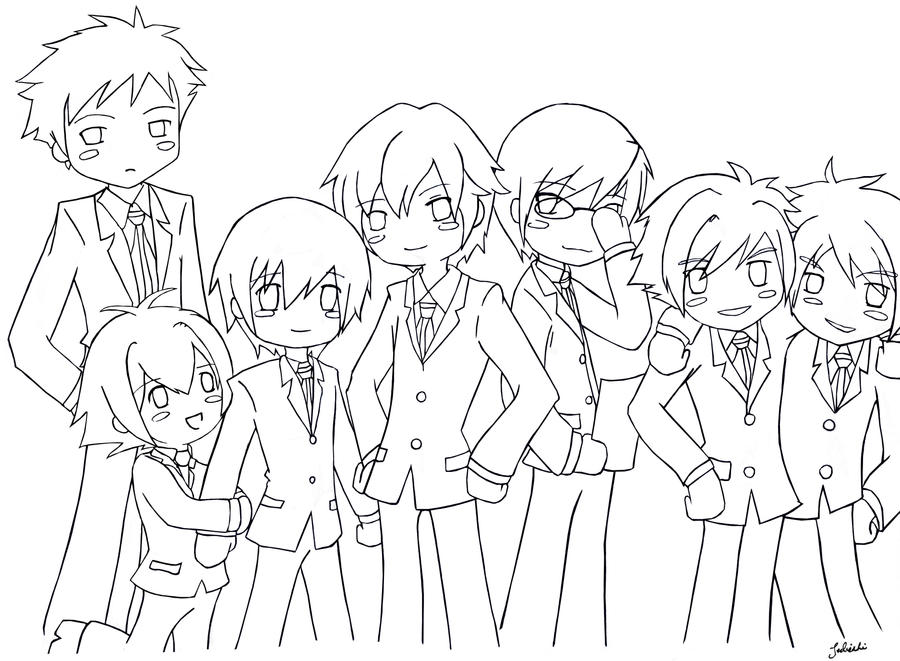 ouran highschool coloring pages - photo#4
