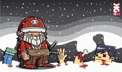 Samurai Santa by krisren28