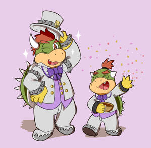 Bowser in suit