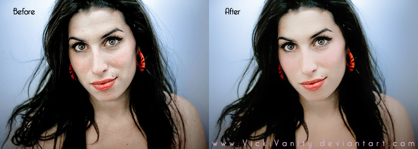 amy winehouse edit before and after by vickivanity on