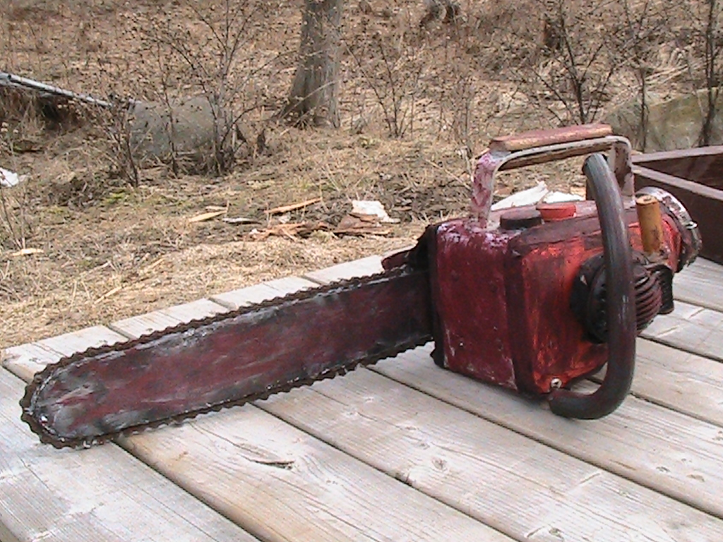 how to make a chainsaw scooter