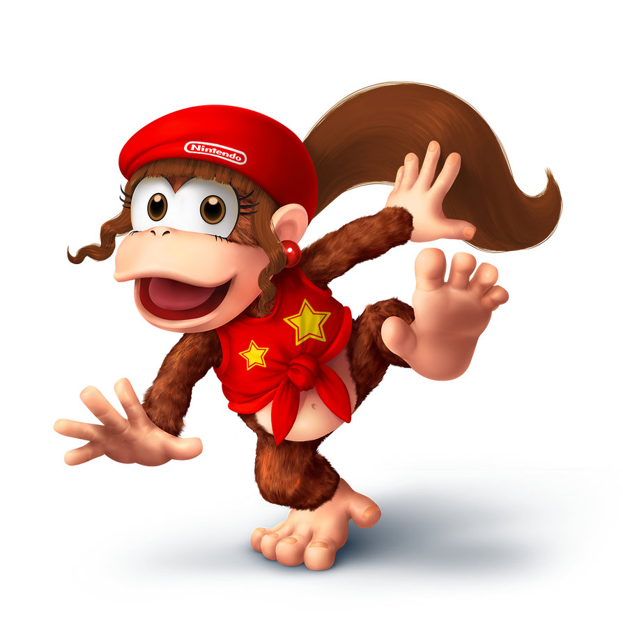 ssb5 dixie kong diddy kong alt by zanethedragon on