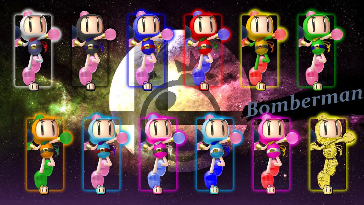 SSB5 Bomberman - Smash Palettes by ZaneTheDragon