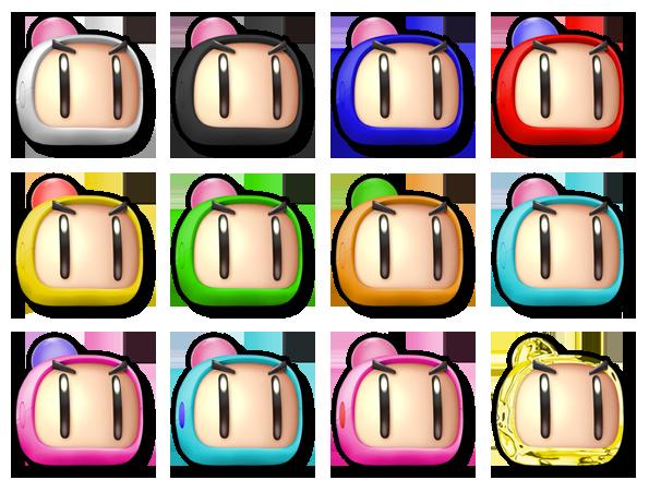 Bomberman SSB5 Life Stock Icon Set by ZaneTheDragon