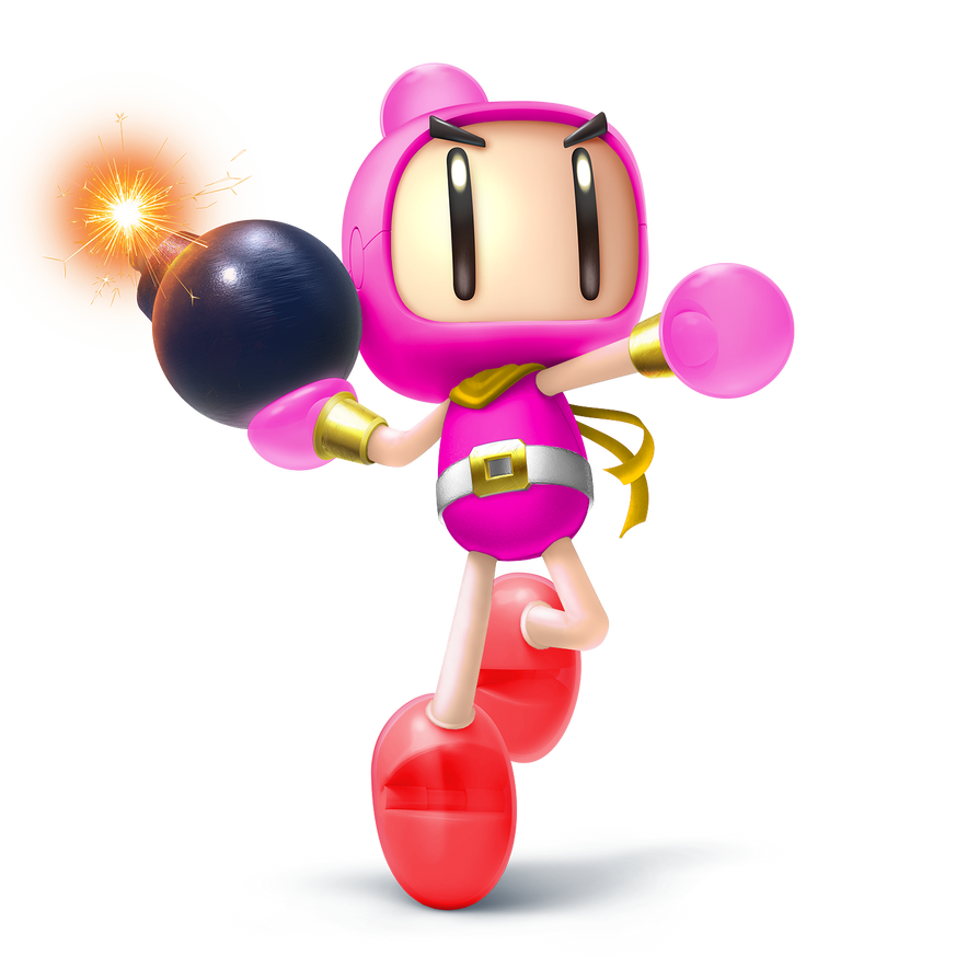 ssb5 bomberman pretty bombercute pink alt by