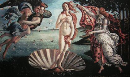 Birth Of Venus Cross-stitch by jenninn