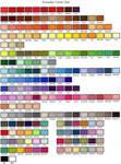 Complete Promarker Colourchart (2013)