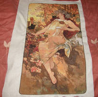 Mucha's Autumn Cross-stitch