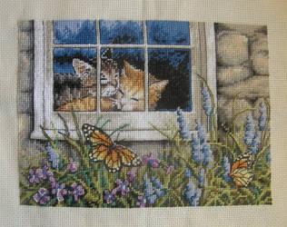 Feline Love Cross-Stitch by jenninn