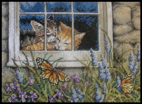 Feline Love Cross-Stitch