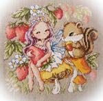 Strawberry Fairy Cross-stitch