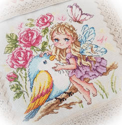 Rose Fairy Cross-stitch