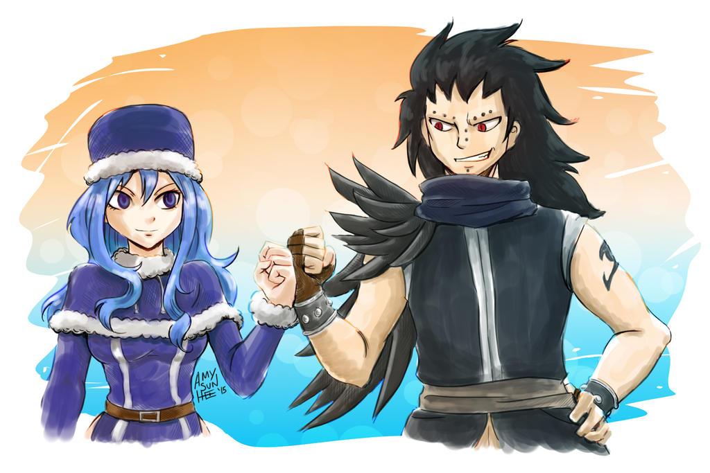 Fairy Tail BrOTP - Juvia and Gajeel by SunHee2244