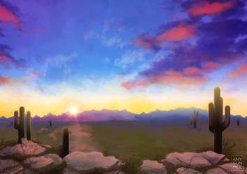Environment study - desert by AmySunHee