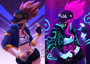 KDA Akali by AmySunHee