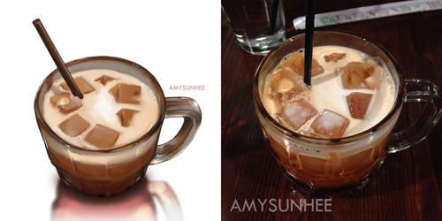 Food Illustration - Thai Ice Tea by AmySunHee