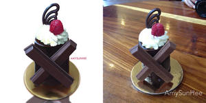 Food Illustration - KitKat dessert by AmySunHee