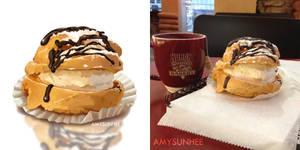 Food Illustration - Cream Puff by AmySunHee