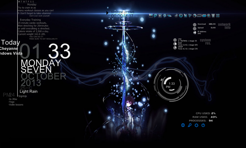 Guilty crown rainmeter by blackowlangel on deviantart for Deviantart rainmeter