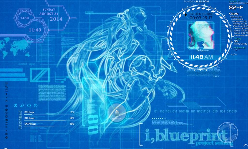 Miku_Blue Print by blackowlangel
