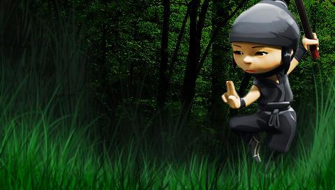 PSP Wallpaper Mini Ninjas 3