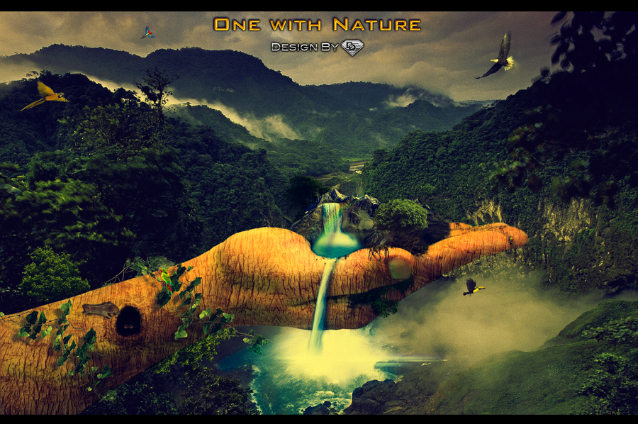 One With Nature By Diamonddesignhd On Deviantart