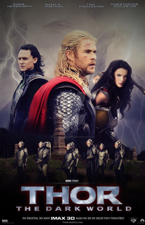 thor the dark world poster v2 by diamonddesignhd on