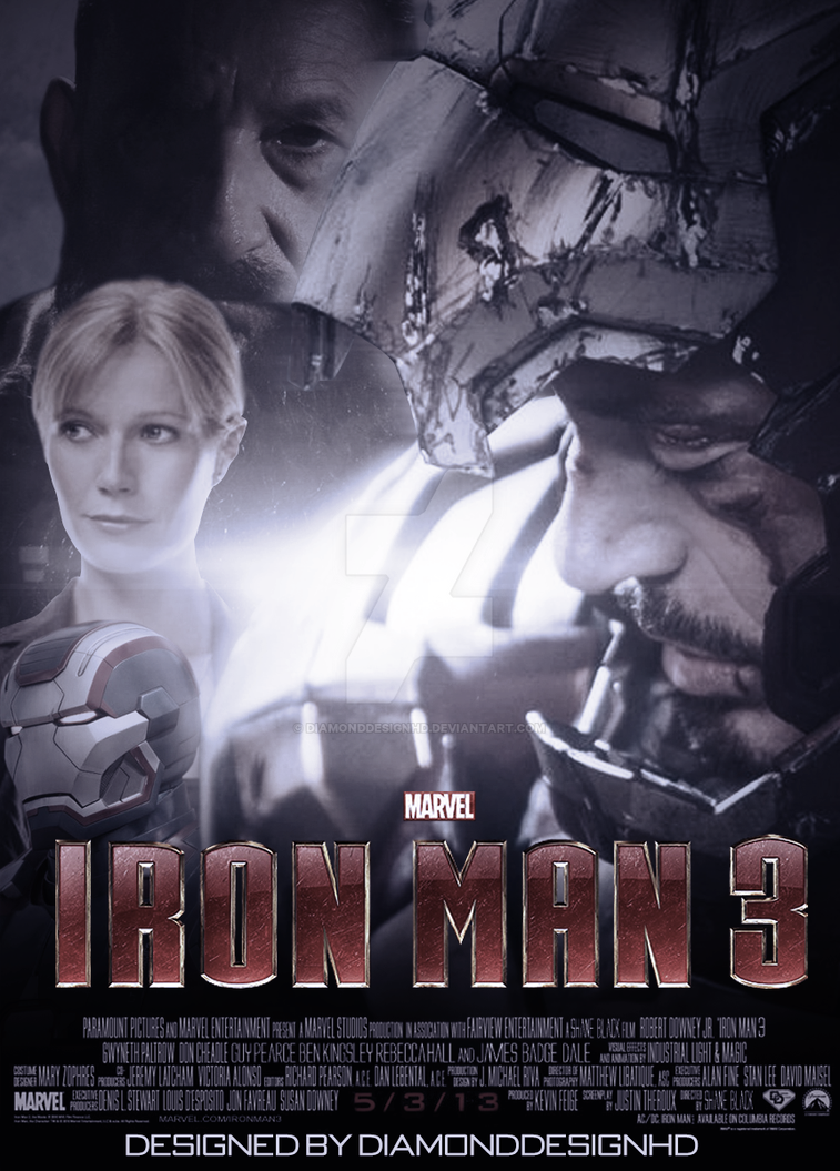 IronMan 3 (Fan-Made) Poster v4 by DiamondDesignHD