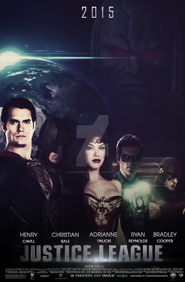 Justice League (Fan-Made) Poster v2 by DiamondDesignHD
