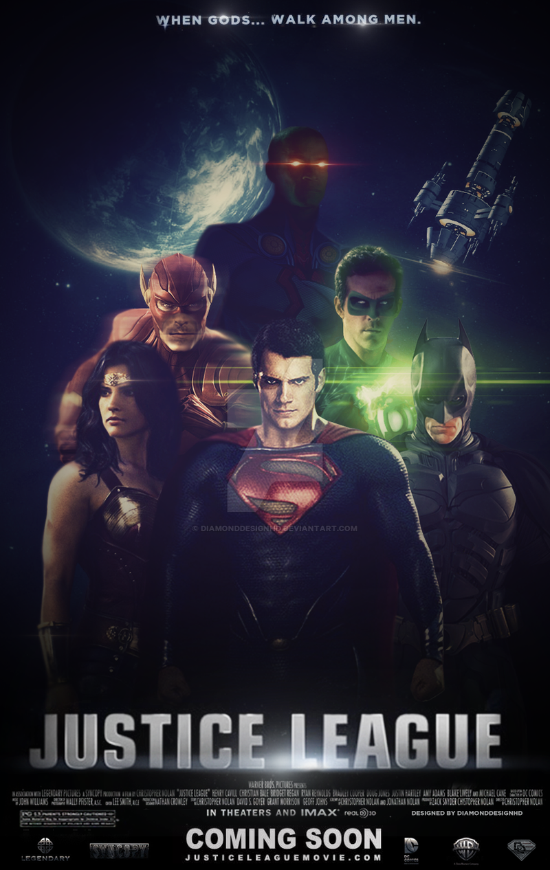 Justice League Fan Made Movie Poster V2 By DiamondDesignHD