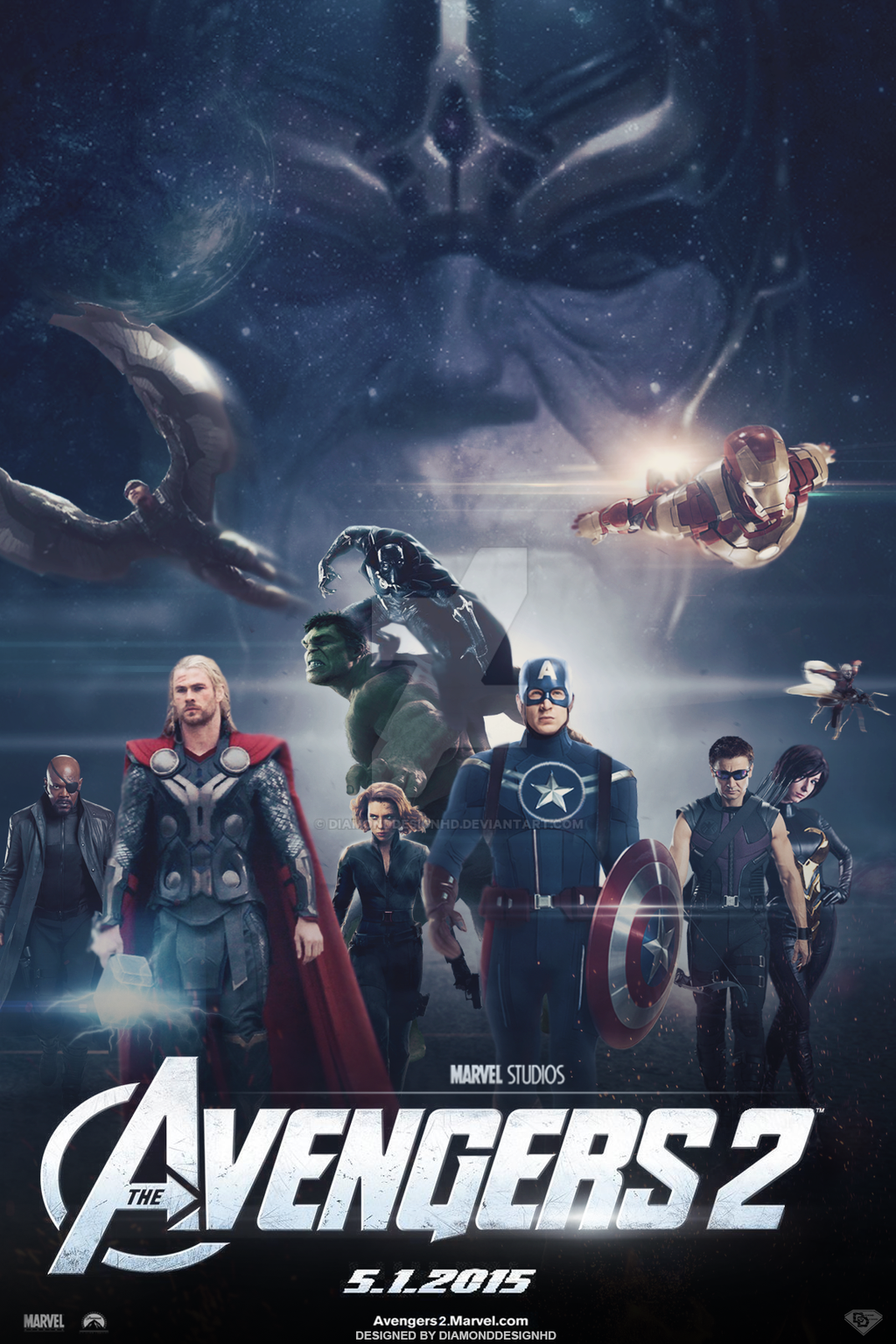The Avengers 2 Fan Made Movie Poster V8 By