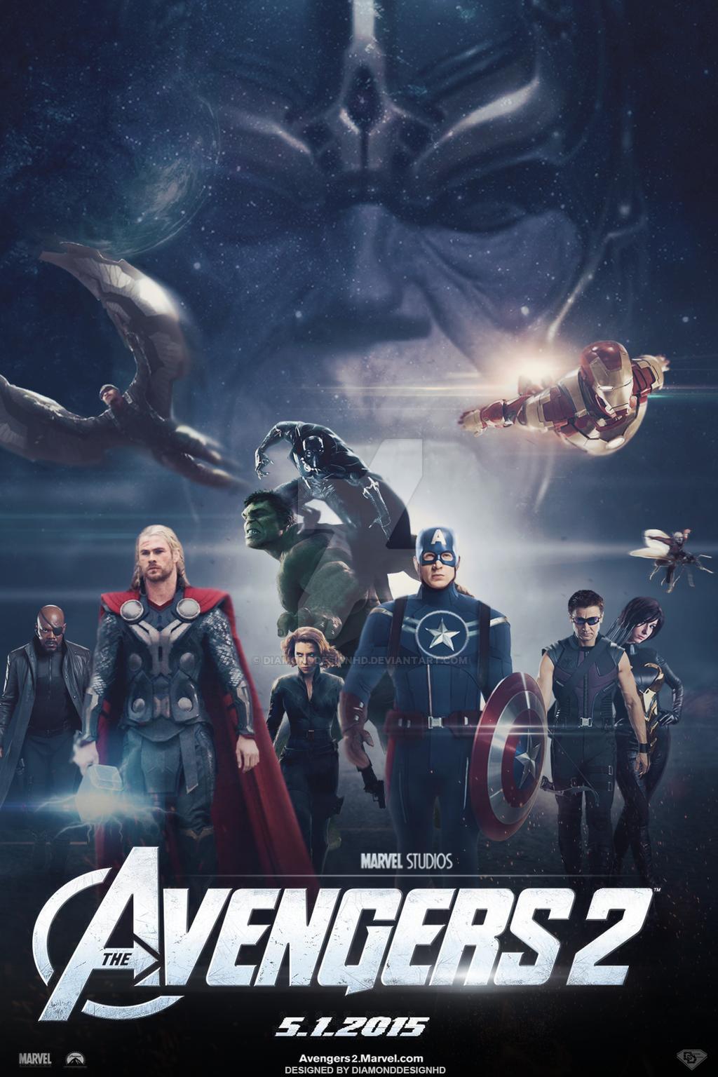 The Avengers 2 (FAN-MADE) Movie Poster v8 by DiamondDesignHD