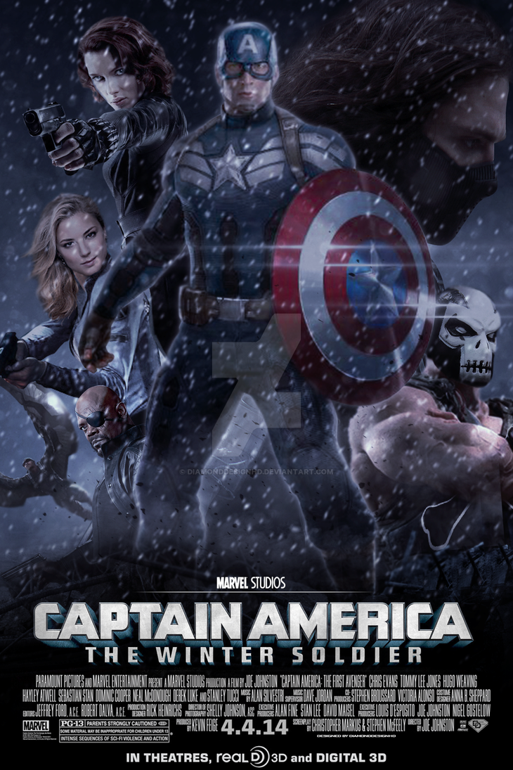 Captain America Winter Soldier Fan Made Poster By Diamonddesignhd
