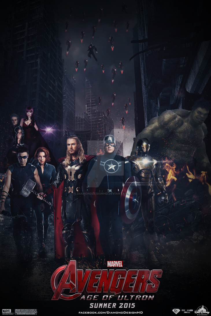 Avengers: Age of Ultron (FAN MADE) Poster by DiamondDesignHD