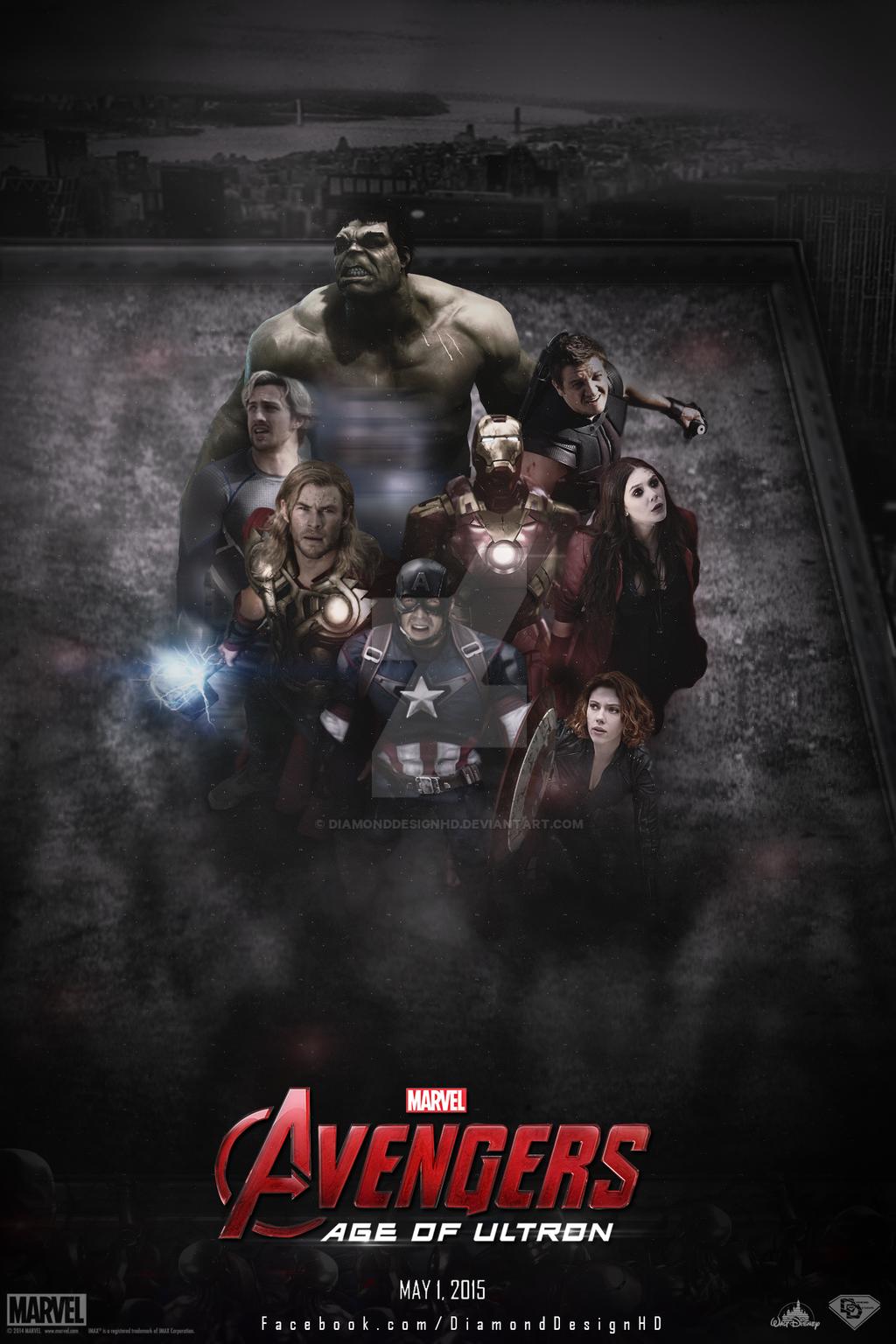 Poster design hd - Diamonddesignhd 123 6 Avengers Age Of Ultron Fan Made Poster By Diamonddesignhd