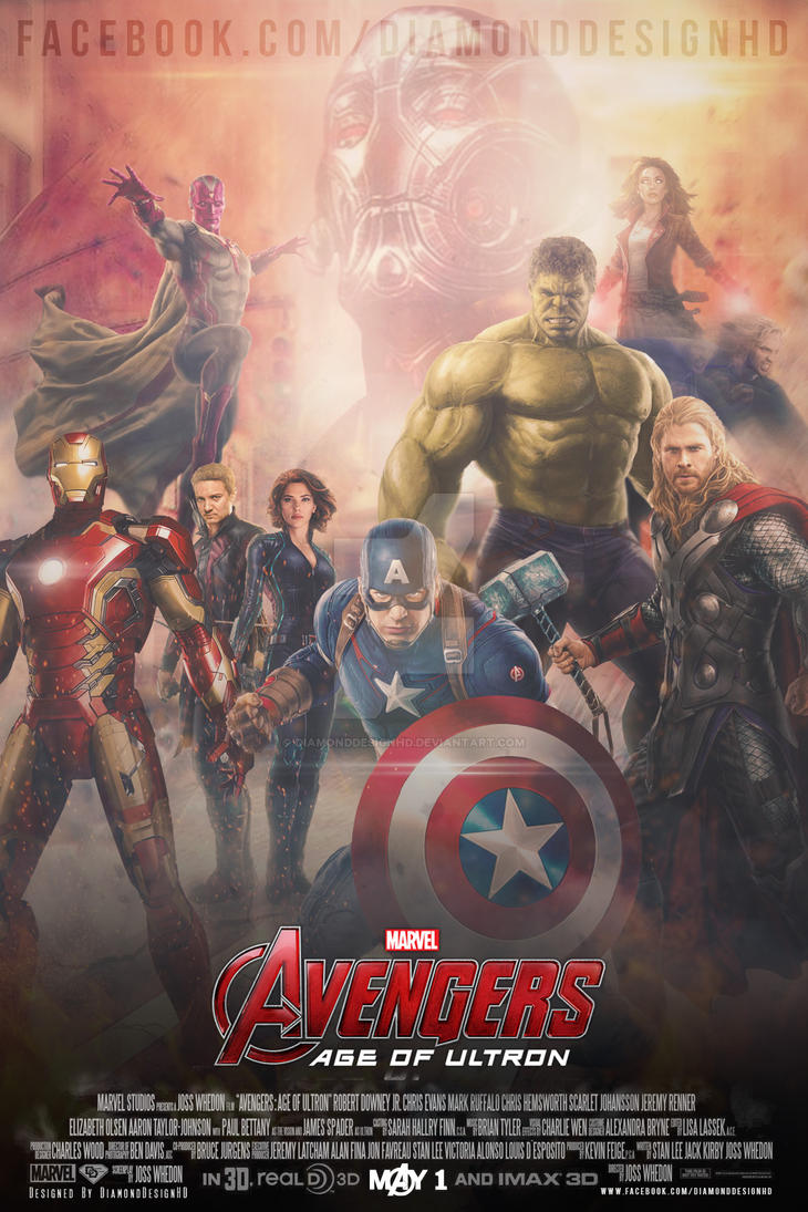 Avengers: Age of Ultron (FAN MADE) Poster by DiamondDesignHD