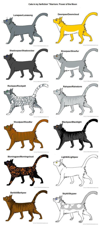 Warrior Cats Characters Names