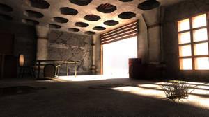 post-apocalyptic warehouse